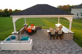 home decor modern outdoor kitchen ideas with exterior view