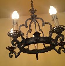 Spanish Revival Chandelier Vintage Lighting 1920s Spanish Revival Chandelier And Sconces By