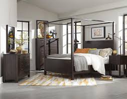 california king poster bed in rustic pine finish by magnussen home