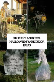 homes decorated for halloween 31 creepy and cool halloween yard decor ideas digsdigs cool diy