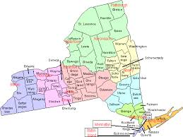 Counties In Ny State Map Counties Map