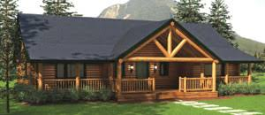 ranch style log home floor plans ranch with covered porch house plans log homes
