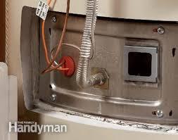 water heater problems pilot light how to fix a water heater pilot light the family handyman