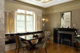 toronto art deco dining room modern with contemporary side chairs