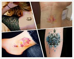 2014 make your mark with these lotus watercolor tattoo from pooppy