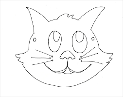cat mask coloring page animal mask template animal templates free