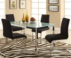 Glass Dining Room Furniture Sets Dining Room Set With White Leather Chairs And Glass Table Top With