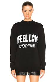 givenchy sweater givenchy i feel sweater in black fwrd