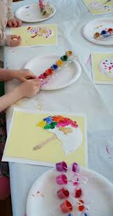 plates that stick to table georges seurat preschool art umbrella shape made out of a paper
