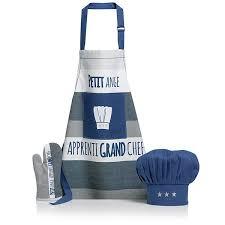 tablier et toque de cuisine ensemble tablier gant et toque pour enfant petit ange winkler