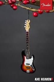 6 fender sunburst jazz bass guitar ornament axe heaven