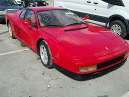 1989 testarossa for sale 1989 testarossa for sale fl miami south salvage cars