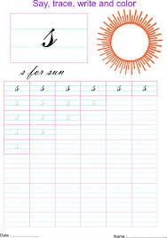 cursive small letter u0027s u0027 worksheet