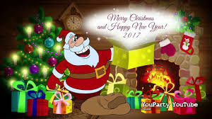 happy new year and santa claus