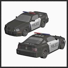 transformers ford mustang barricade ford saleen mustang car free paper model