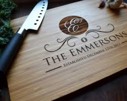 monogramed cutting boards personalized cutting board engraved bamboo wood