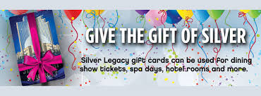 hotel gift card reno hotel gift cards for dining shows spa silver legacy