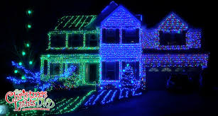 home christmas lights blue beautiful blue christmas house lights