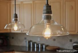 vintage glass pendant light lighting barn pendant light aneilve pottery mini lights classic