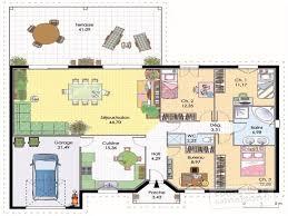 plan de maison plain pied 4 chambres chambre plan maison plain pied 4 chambres frais maison