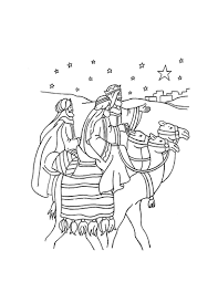 the journey of the three wise men coloring pages hellokids com