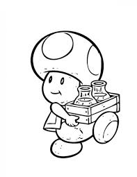 Mario Toad Coloring Pages Coloring Pages Ideas