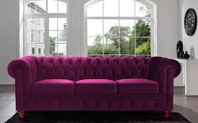 lovely purple velvet sofa bed on interior home design style with
