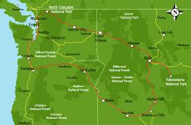 map usa northwest map usa west major tourist attractions maps
