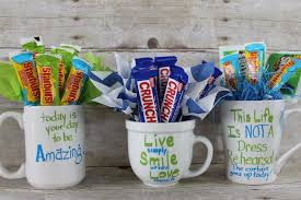 gift mugs with candy miss kopy make a candy bouquet in a coffee cup