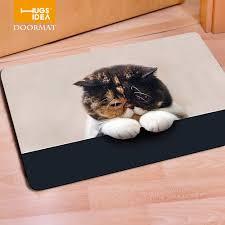 Thin Bathroom Rugs Cat Pugs Puppies Kawaii Living Room Carpets Bathroom