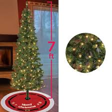 pre lit slim noble fir tree 7