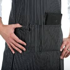 Customizing Kitchen Aprons Chef Revival 619ba Ws Customizable Black With White Pinstripe Full
