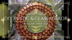 Diy Rustic Home Decor by Diy Rustic U0026 Glam Dollar Tree Home Decor Mirror Youtube