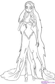 corpse bride coloring pages with corpse bride coloring pages
