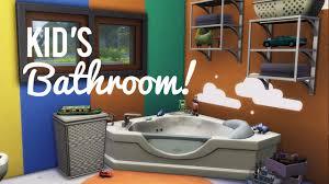 the sims 4 room build u2014 kid u0027s bathroom youtube
