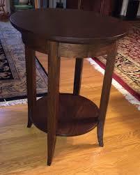 Oak Side Table Round White Oak Side Table Silverpearl Woodworking