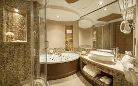 luxury bathroom decorating ideas luxury bathroom design with awesome wood vanity for ideas design
