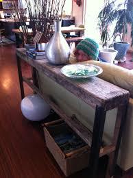 Narrow Sofa Tables Upcycling Plank Sofa Table U2013 Fish U0026 Bicycles