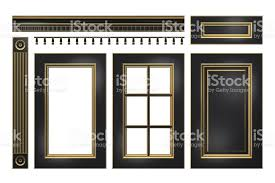 kitchen cabinet cornice black with gold door drawer column cornice for kitchen cabinet