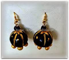 how to make jhumka earrings kriya tive kaleidoscope diy terracota jewellery necklace and