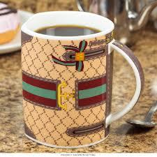 handbag purse beige flat sided mug novelty coffee mugs for her