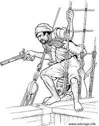 coloriage pirate avec un pistolet dessin