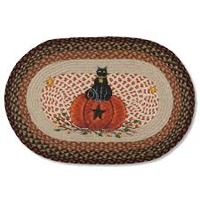 Black Jute Rug Bittersweet Black Cat Rug Oval Braided Jute Doormat Sturbridge