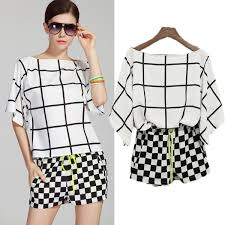 black and white blouse black and white check blouse blue denim blouses