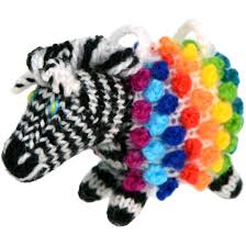 rainbow zebra ornament ten thousand villages canada