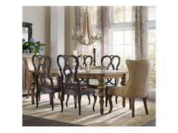 hooker furniture auberose 7 piece dining set with leather host