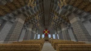 church ceilings large church with cathedral ceilings minecraft project