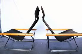 Canvas Sling Back Chairs by Modernhaus Burl Table Mid Century Bedroom Danish Desk And