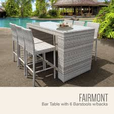 Outdoor Bar Patio Furniture Fairmont Bar Table Set With Barstools 7 Outdoor Wicker Patio