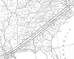 Map Of North And South Carolina Discover The Total Solar Eclipse Of 1900 In Historic Wadesboro